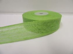 2 metres or 10 metre Roll 15mm 25mm Vintage Hessian  Ribbon Leaf Green Double sided Net